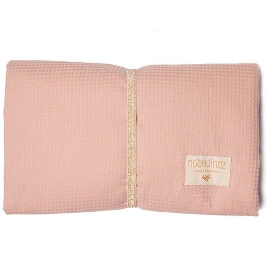 Nobodinoz tipi en accessoires Changing mat - Mozart waterproof - Misty Pink - Nobodinoz