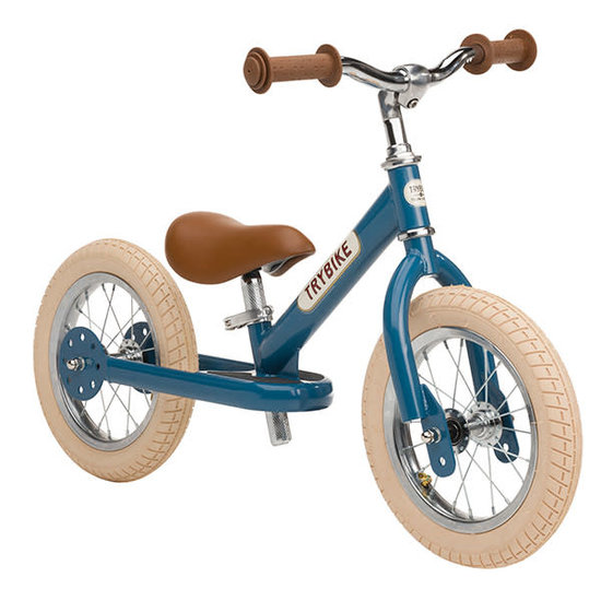 Trybike Loopfietsen Trybike Steel loopfiets Vintage Blauw