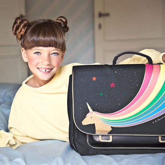 Jeune Premier boekentas School bag it bag Midi Unicorn Gold - Jeune Premier