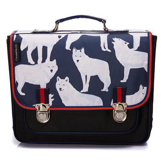 Caramel et Cie School bag - Les loups blancs - Caramel et Cie