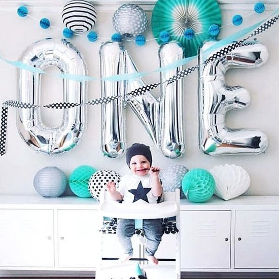 Northstar Balloon - letters - silver - 40 cm - Northstar - T