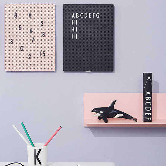 Design Letters Design Letters - cijfers en letters letterbox zwart voor message board