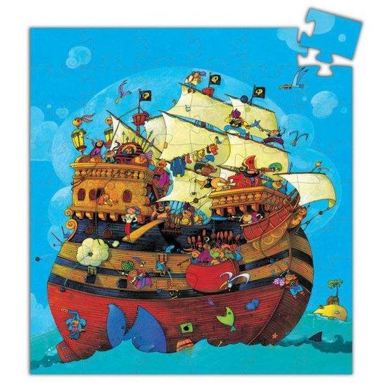 Djeco Amazing pirates puzzle silhouette - Barbarossa's boat - Djeco