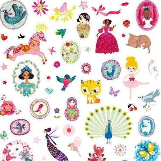 Djeco Super leuke stickerset - 1000 stickers voor meisjes - Djeco