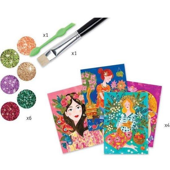 Djeco Djeco - gekleurd zand en glitter  - bloemengeuren 7-13 jr