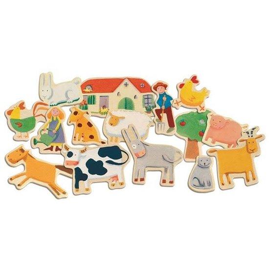 Djeco Djeco - magneten - Boerderij - 24 stuks