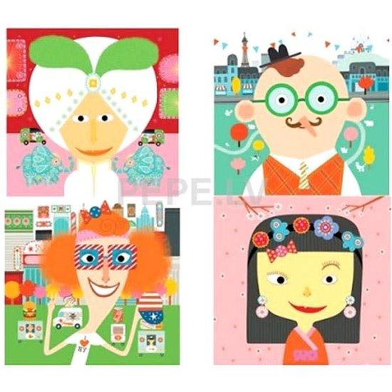 Djeco Djeco stickers gezichten creëren
