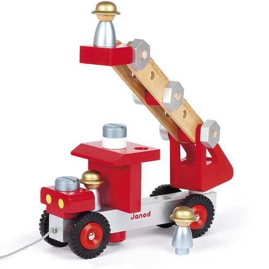 Janod speelgoed Janod - DIY speelgoed brandweerwagen +2jr
