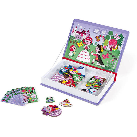 Janod speelgoed Janod - Magnetic Book Princesses - 62pcs 3-8yrs