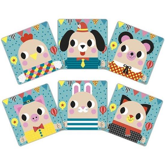 Janod speelgoed Janod - magneetbord - magnetisch speelgoed - dieren +2jr