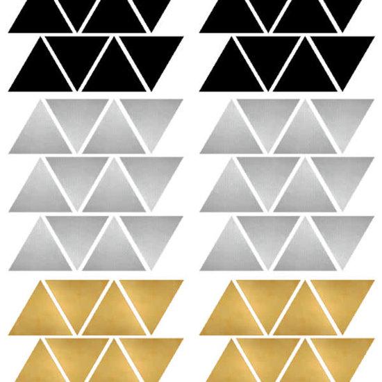 Pom Le Bonhomme Muurstickers driehoekjes Chic - Pöm Le Bonhomme - set 72 stickers