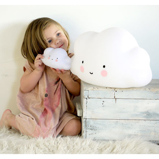 A Little Lovely Company Cloud lamp white - small