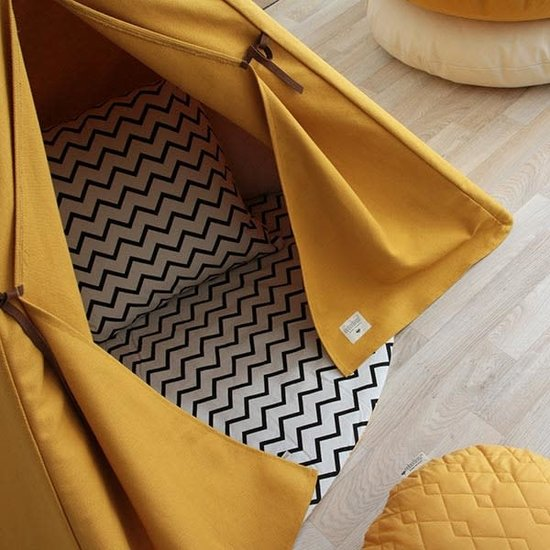 Nobodinoz tipi en accessoires Nobodinoz Nevada Tipi Zelt - Pure Line - Farniente gelb
