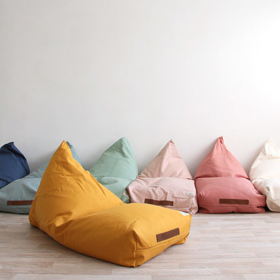 Nobodinoz tipi en accessoires Bean bag Oasis - Nobodinoz Pure Line - Aegean blue