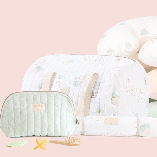 Nobodinoz tipi en accessoires Nobodinoz - toilettas - Holiday Large - White Bubble - Mint Aqua