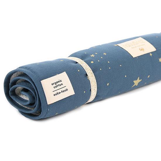 Nobodinoz tipi en accessoires Nobodinoz - verschoningsmatje Nomad - Gold Stella-Night Blue
