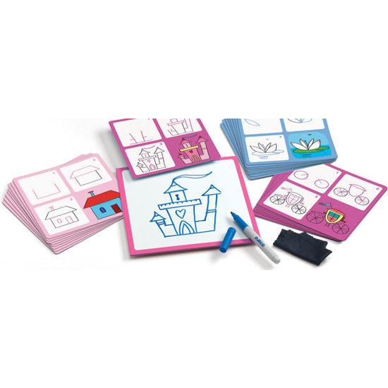 Djeco Djeco prinsessen leren tekenen stap voor stap