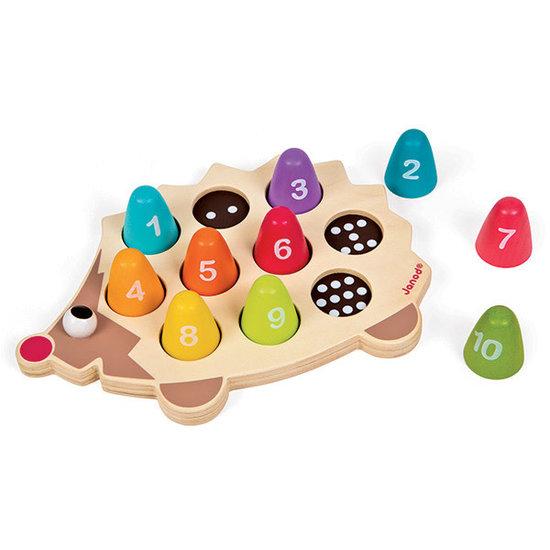 Janod speelgoed Puzzle lernen zu zählen Igel - I Wood - Janod