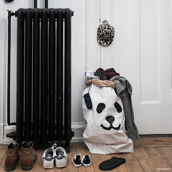 Tellkiddo Paper bag - storage bag - Panda Black - Tellkiddo