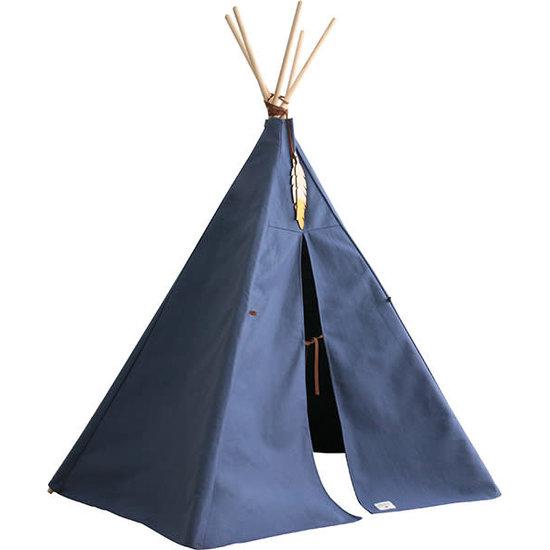Nobodinoz tipi en accessoires Teepee Nevada - Nobodinoz Pure Line - Aegean blue