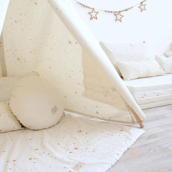 Nobodinoz tipi en accessoires Nobodinoz kussen Laurel - Elements - Gold Stella - Dream Pink