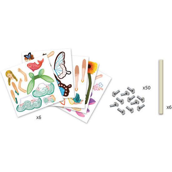 Djeco Djeco - craft - Jumping Jacks - Fairies 6-11 yrs