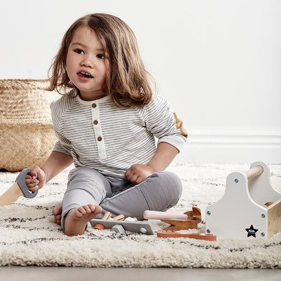 Kid's Concept Kids Concept - gereedschapskist natural - wit +3jr