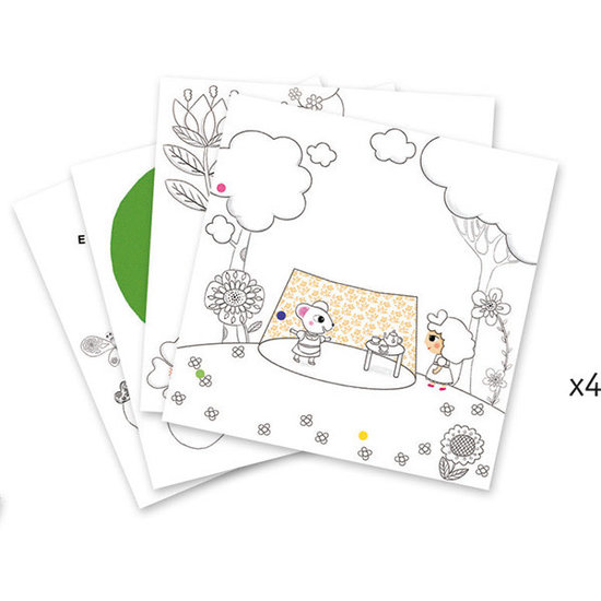 Djeco Kleurplaten 3D - Duimelijntje - Djeco