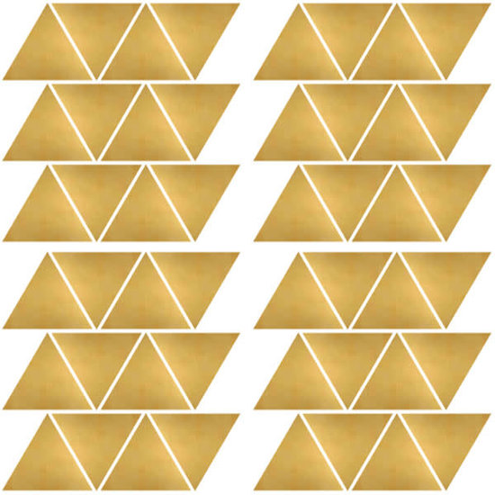 Pom Le Bonhomme Wall stickers triangles gold - Pöm Le Bonhomme - set of 72 stickers