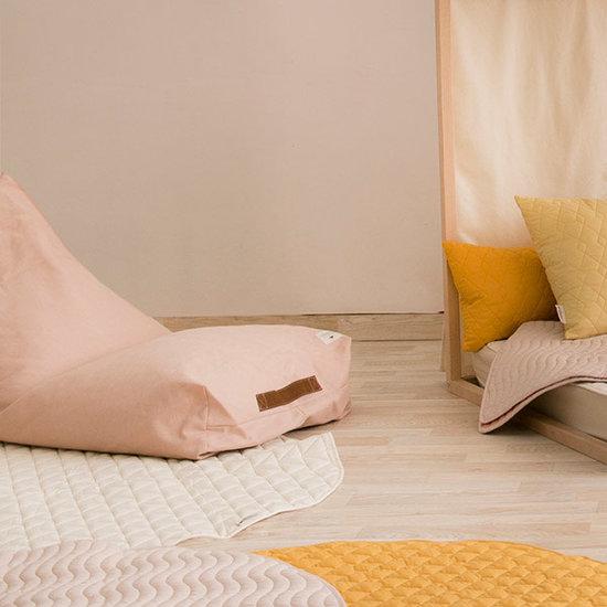 Nobodinoz tipi en accessoires Nodbodinoz Sitzsack Oasis - Pure Line - Bloom rosa