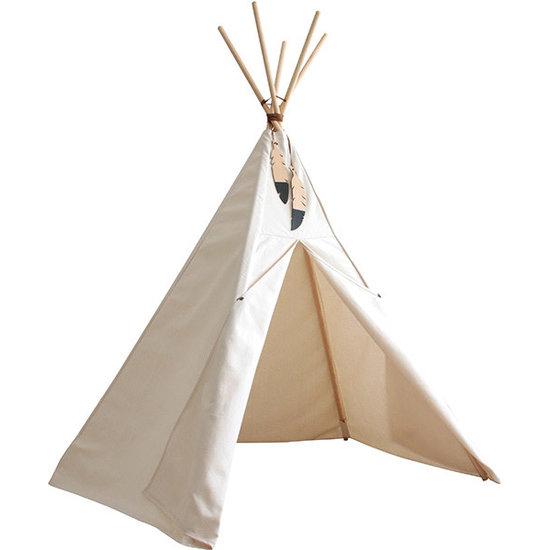 Nobodinoz tipi en accessoires Nobodinoz Tipi Zelt Nevada - Pure Line - Natural weiß