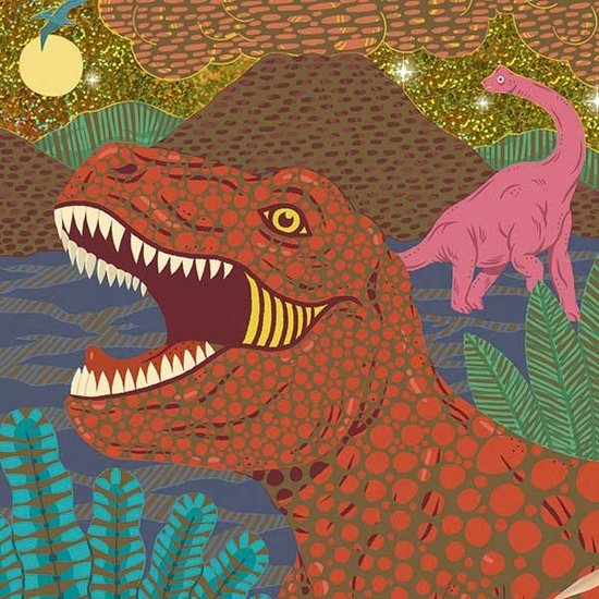 Djeco Dinosaurier - Kratzbilder - Djeco