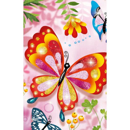 Djeco Djeco gekleurd zand glitter vlinders