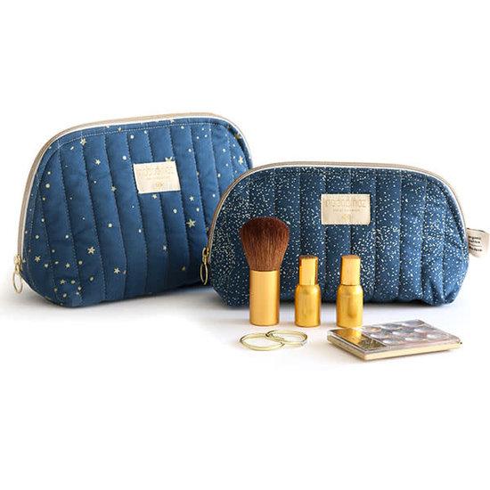 Nobodinoz tipi en accessoires Nobodinoz - toilettas - Holiday Large - Gold Bubble - Night Blue