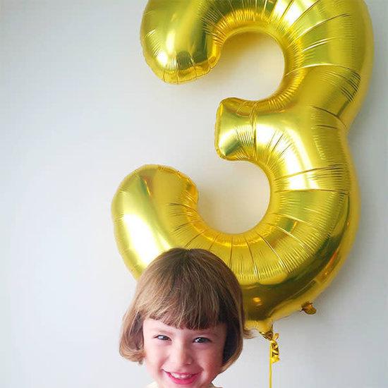 Northstar Ballon - cijfers - goud - 40 cm - Northstar - 9