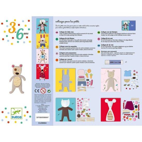 Djeco Knutseldoos collages voor de kleintjes - Grappige dieren - Djeco