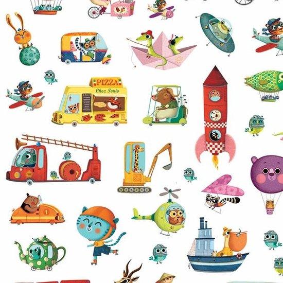 Djeco Djeco stickers Onderweg 160 stuks