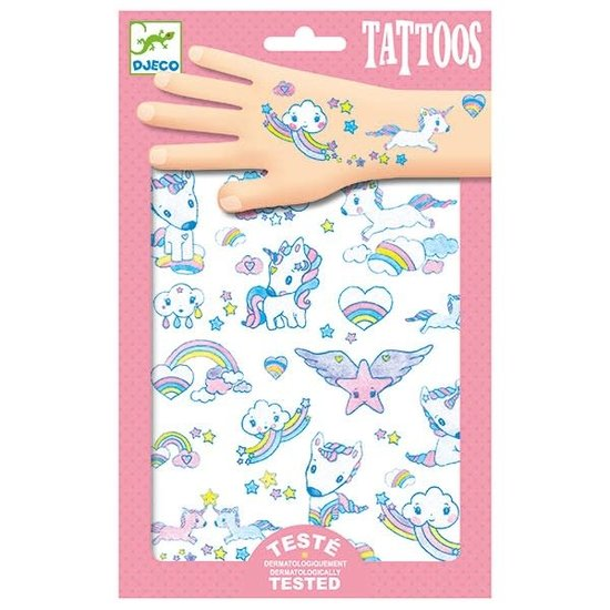 Djeco Djeco - tattoos Eenhoorns - glitter +3jr