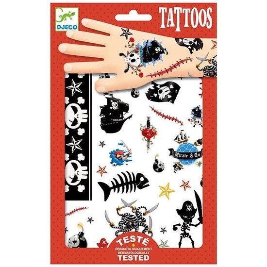 Djeco Djeco - tattoos Piraten +3jr