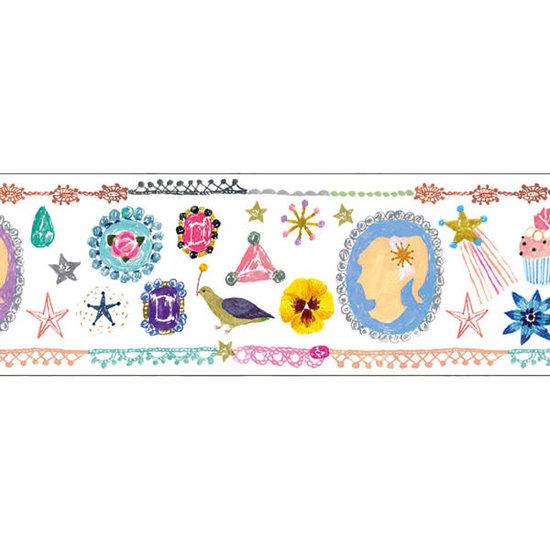 Djeco Djeco - Masking Tape  Aiko - Washi Tape - Ruban adhésif - 2.5cm x 10m