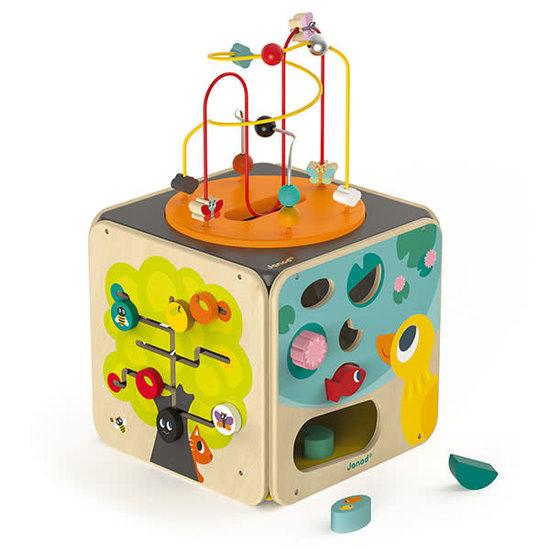 Janod speelgoed Janod - activiteiten kubus - speeltafel baby - Maxi Looping +18M