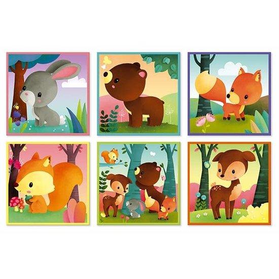 Janod speelgoed Janod - blokpuzzel - Kubkid - 9 blokken - bosdieren +2 jr