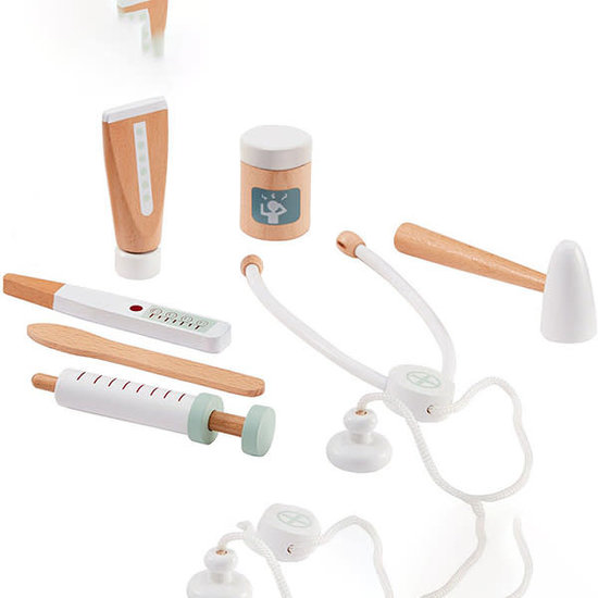 Kid's Concept Kids Concept - dokterstas speelgoed - doktersset mosterdgeel +2jr