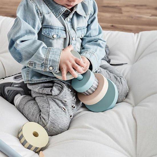 Kid's Concept Kids Concept - stapelblokken - stapeltoren - Edvin mint +1jr