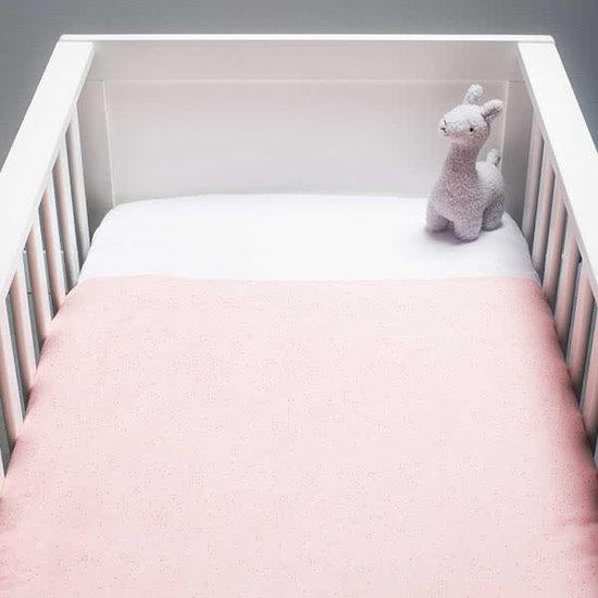 Jollein Laken 75 x 100 cm - Mini dots blush rosa - Jollein