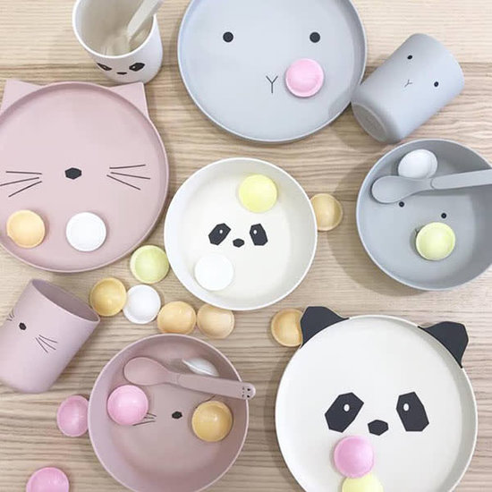 Liewood Bambus Kinder-Geschirr - Kaninchen - dumbo grau - Liewood