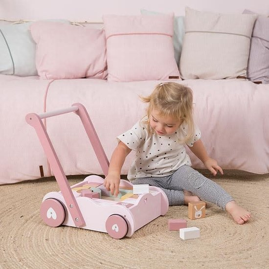Little Dutch Baby walker with blocks - Adventure pink - Little Dutch