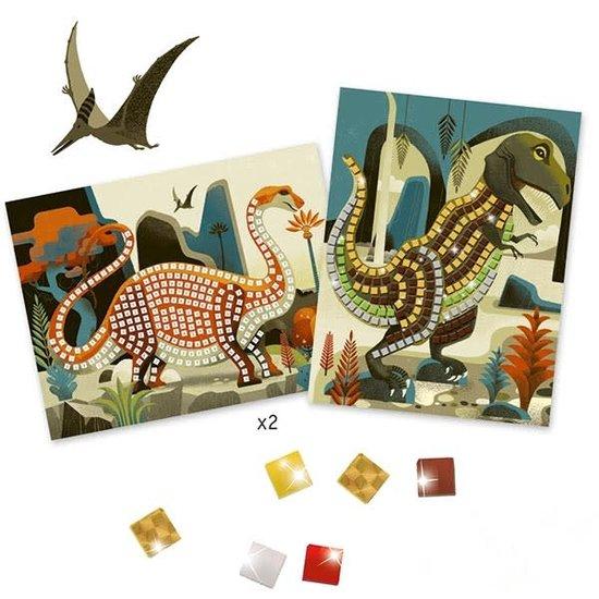 Djeco Mozaïek - dinosaurussen - metaal - Djeco +4 jr