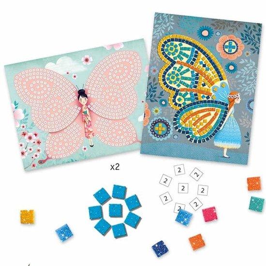 Djeco Mosaic - butterflies - glitter - Djeco +4 yrs