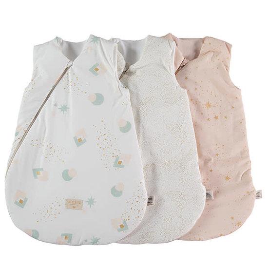 Nobodinoz tipi en accessoires Nobodinoz - slaapzak baby Cocoon Large - Aqua Eclipse-White